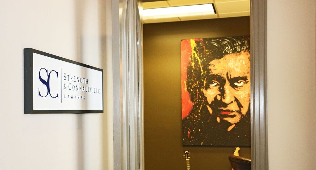 Johnny Cash overseeing the Strength & Connally law firm in Montgomery, Alabama.